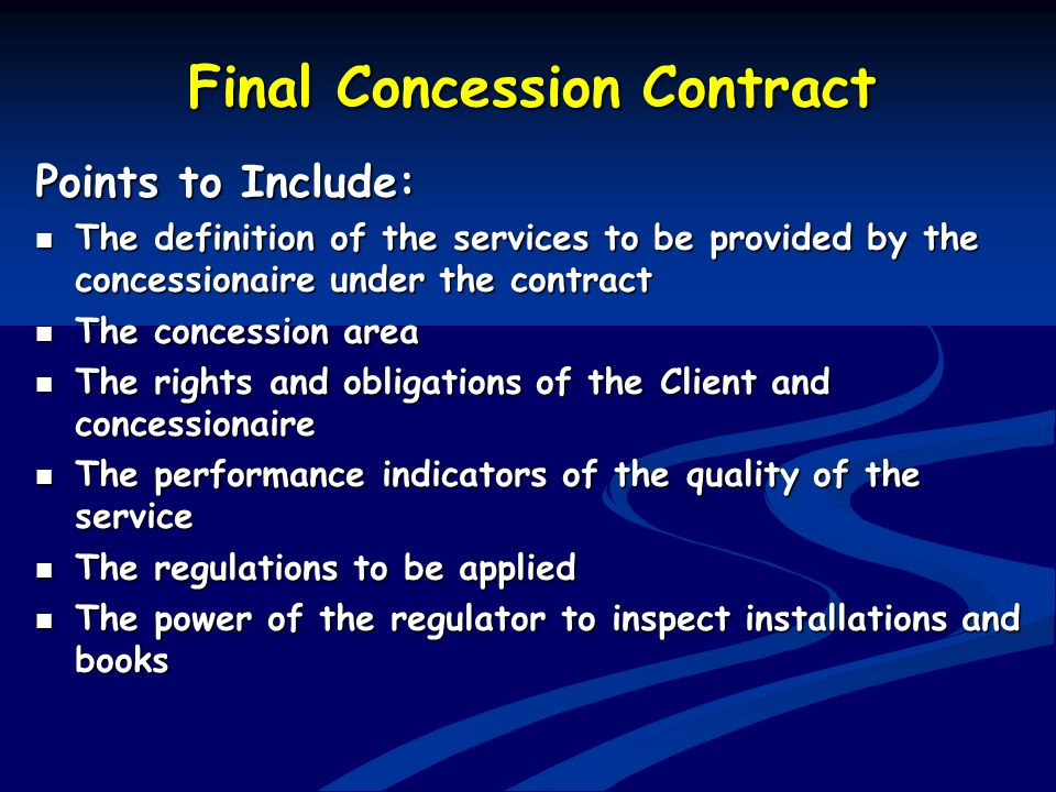 Final Concession Contract