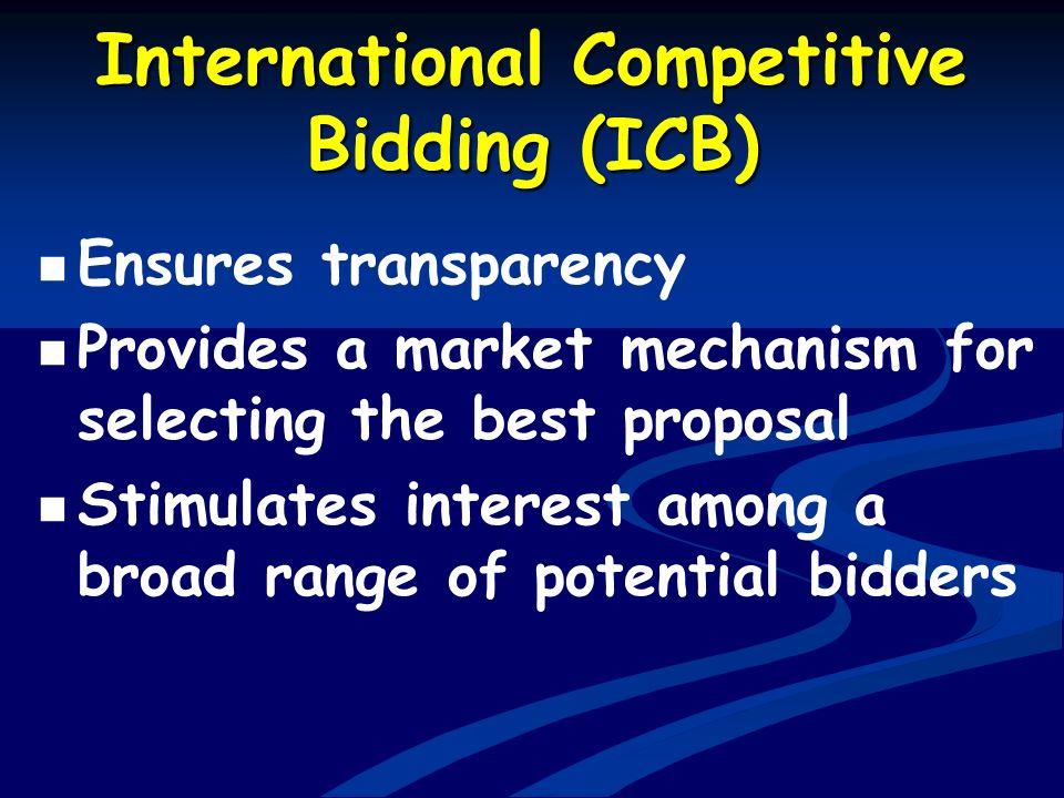 International Competitive Bidding (ICB)
