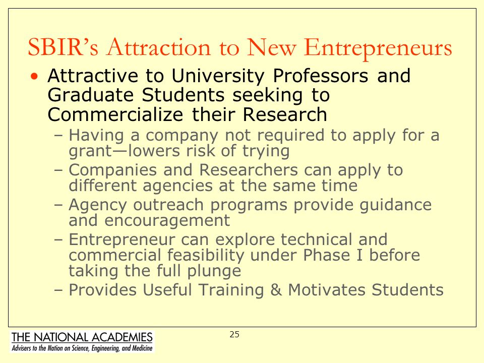 SBIR's Attraction to New Entrepreneurs