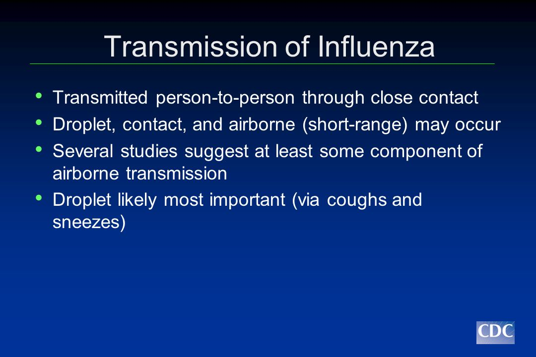 Transmission of Influenza