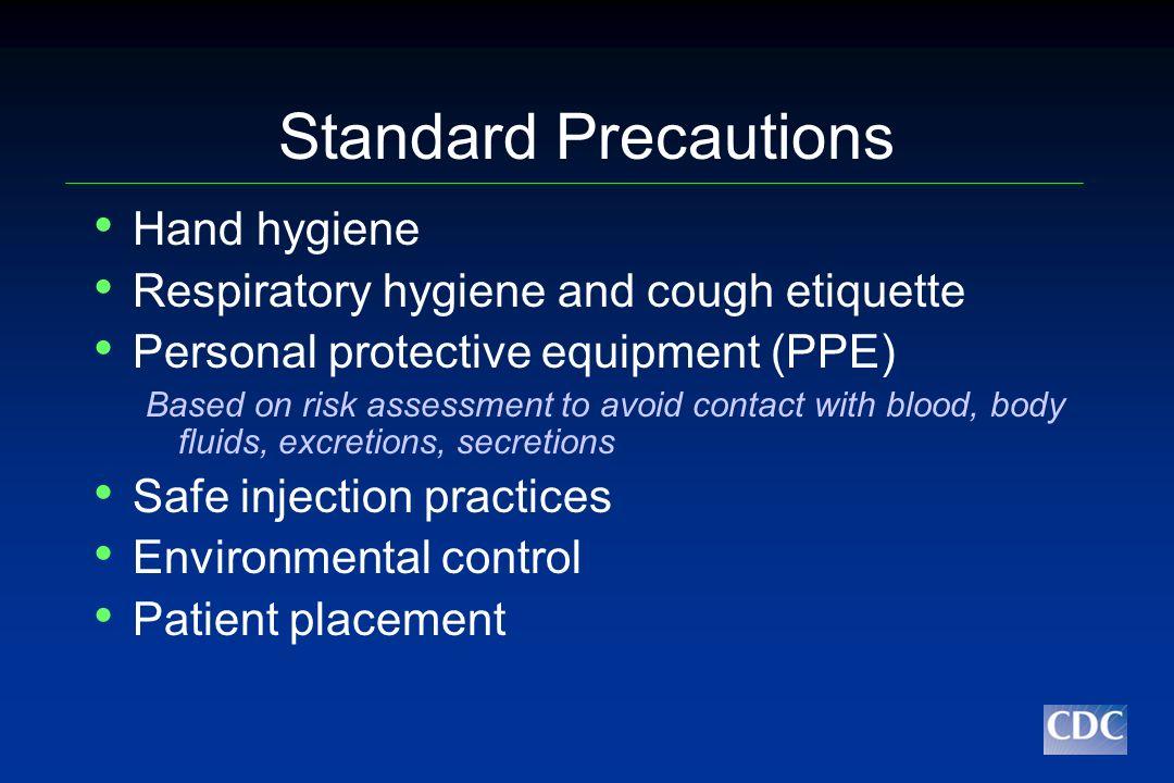 Standard Precautions Hand hygiene