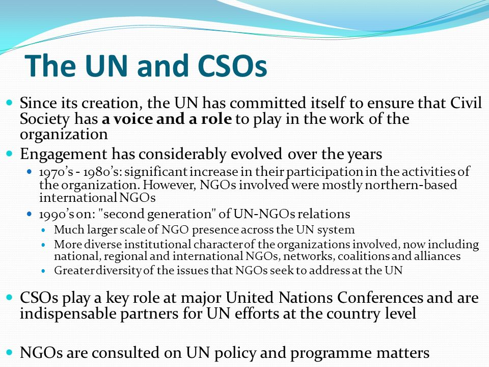 The UN and CSOs