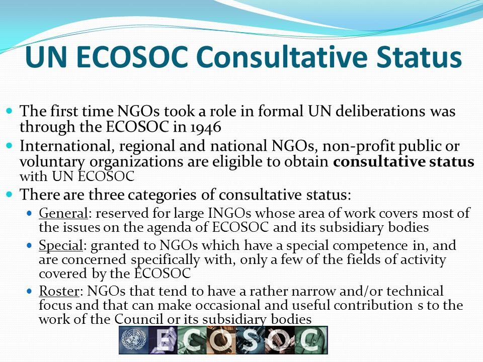 UN ECOSOC Consultative Status