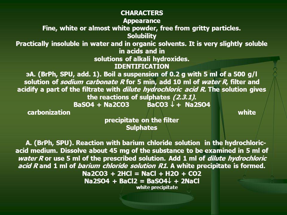 how to prepare 0.1 m barium chloride