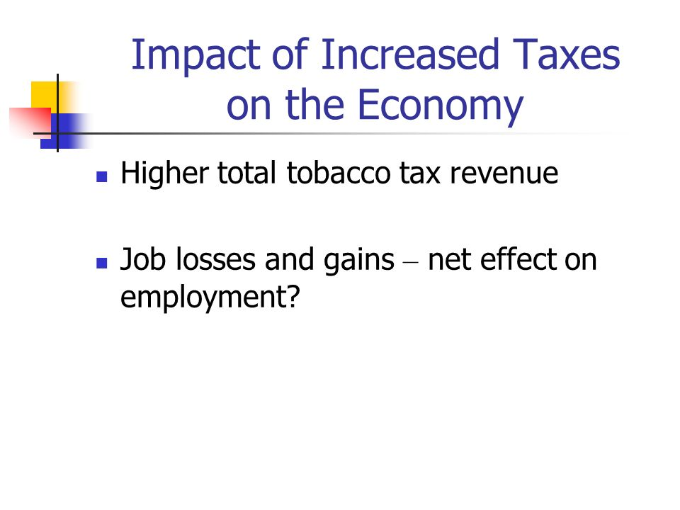 Impact of Increased Taxes on the Economy