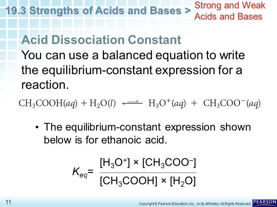 determination of the dissociation constant weak acid Titration ii – acid dissociation constant  acid dissociation constant,  which is specific to that acid for the dissociation of any weak acid, ha: ha.