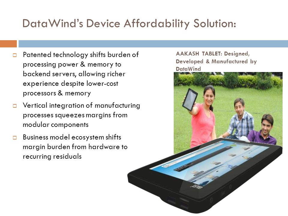 DataWind's Device Affordability Solution: