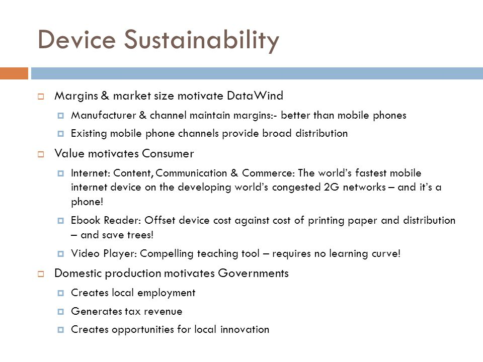Device Sustainability