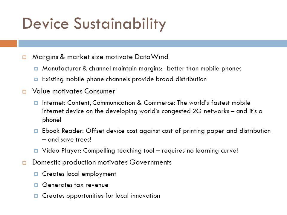 Device Sustainability