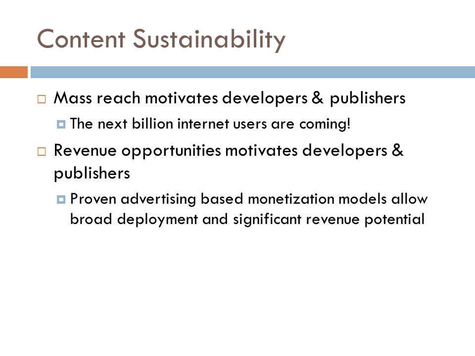 Content Sustainability