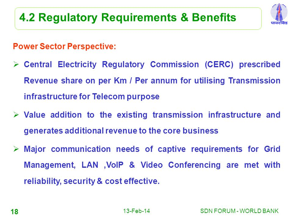4.2 Regulatory Requirements & Benefits