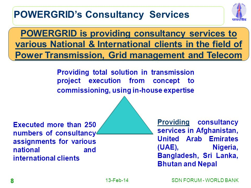 POWERGRID's Consultancy Services