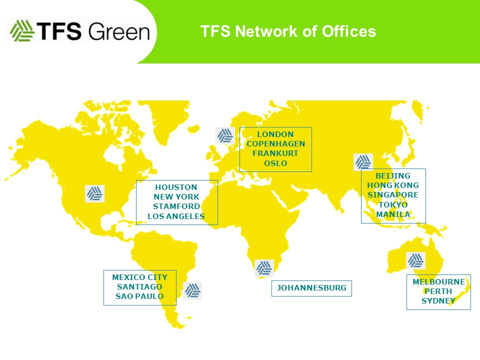 TFS Network of Offices LONDON COPENHAGEN FRANKURT OSLO BEIJING
