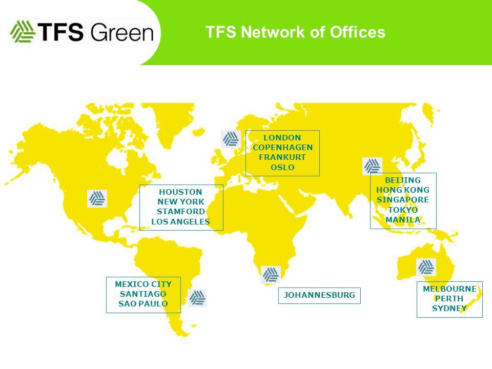 TFS Network of Offices LONDON COPENHAGEN FRANKURT OSLO BEIJING