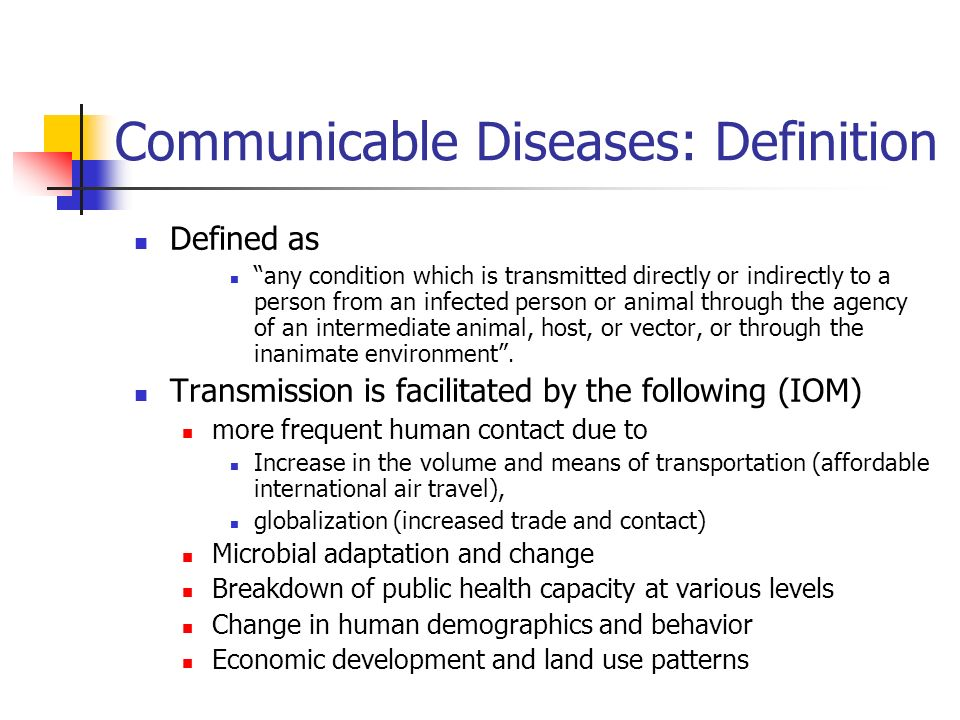 Communicable Diseases: Definition