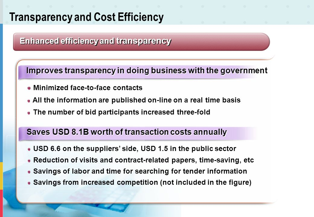 Transparency and Cost Efficiency
