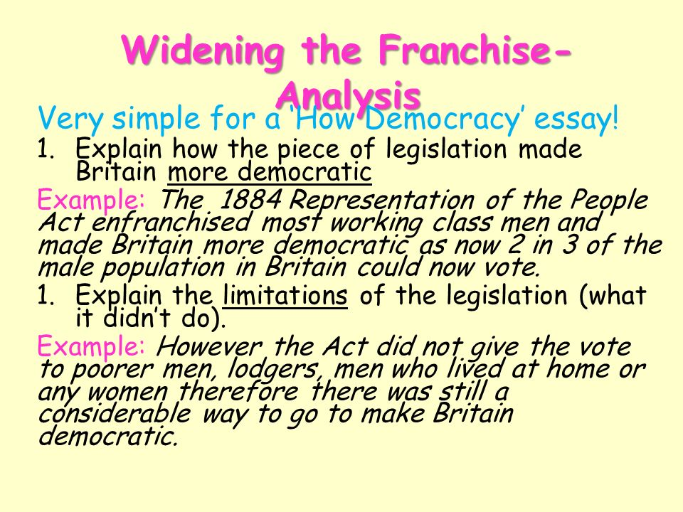 an analysis of democracy in britain in 1914 The american experiment and the idea of democracy in british culture, 1776–1914 - crc press book in nineteenth-century britain, the effects of democracy in america were seen to spread from congress all the way down to the personal habits of its citizens.