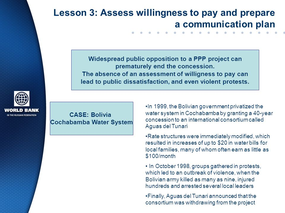 Lesson 3: Assess willingness to pay and prepare a communication plan