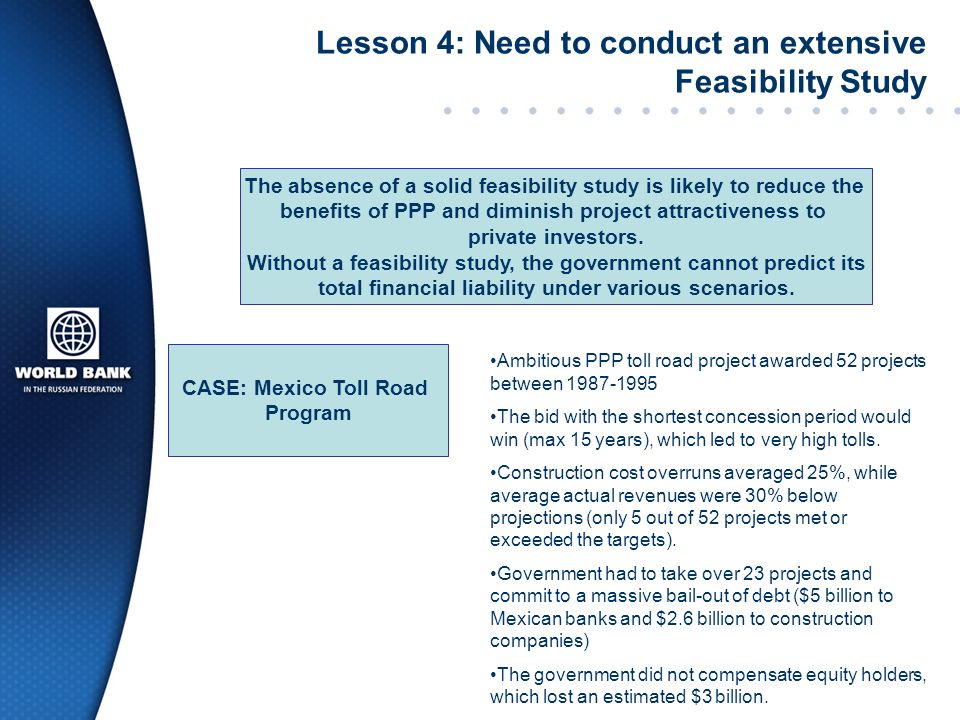 Lesson 4: Need to conduct an extensive Feasibility Study