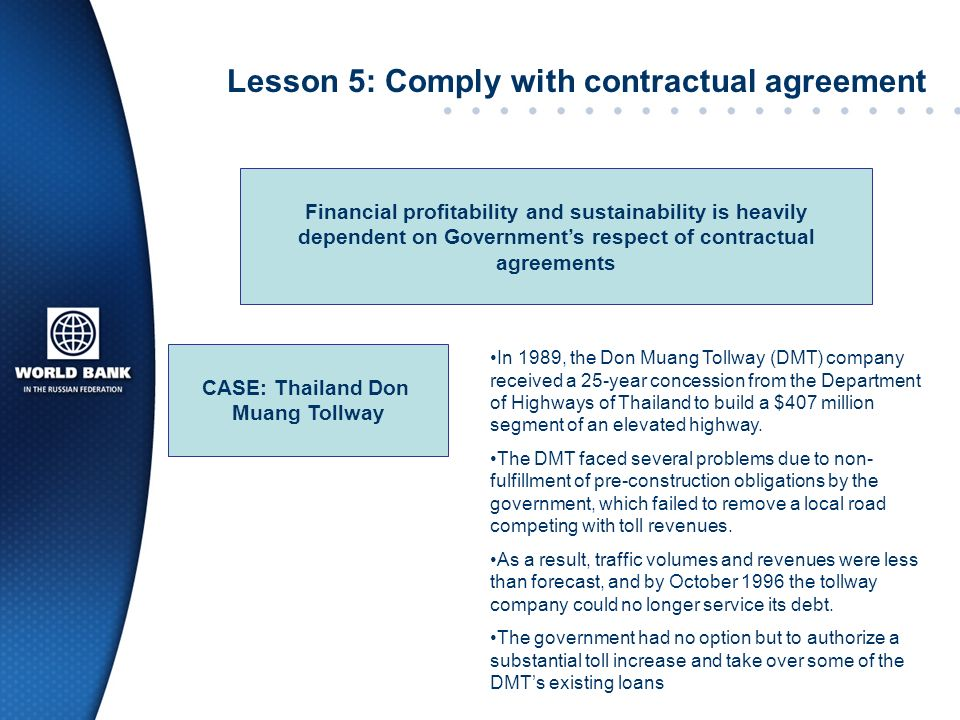 Lesson 5: Comply with contractual agreement