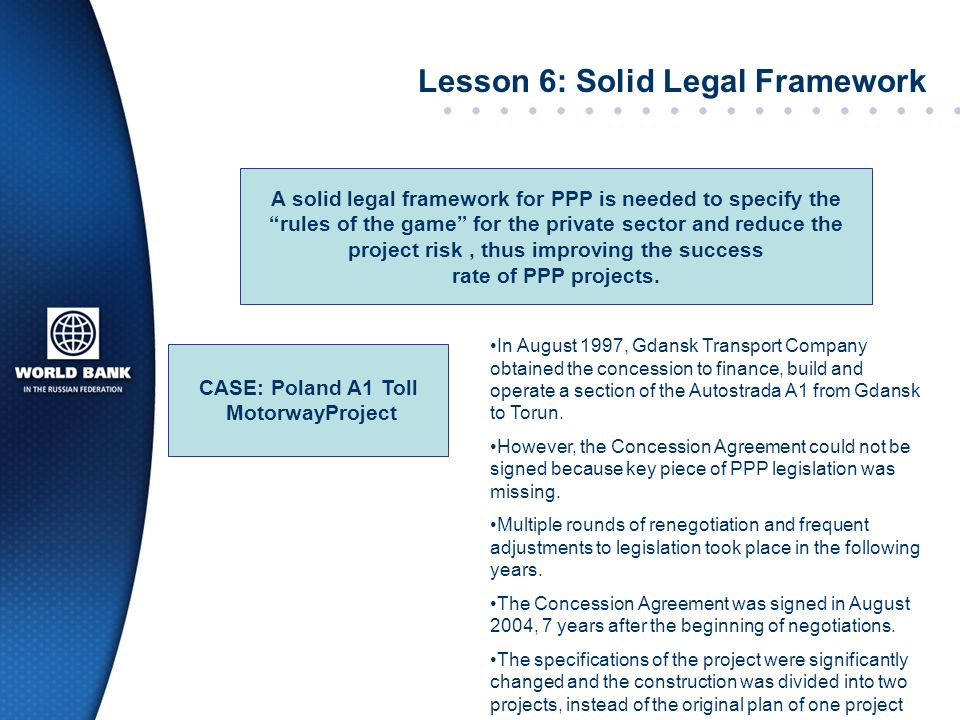 Lesson 6: Solid Legal Framework