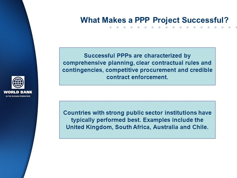 What Makes a PPP Project Successful
