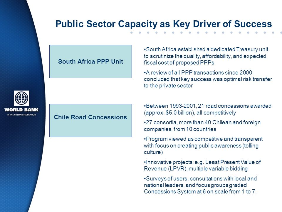 Public Sector Capacity as Key Driver of Success