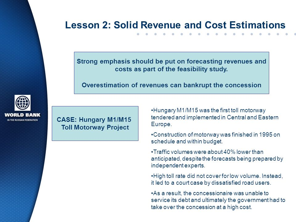 Lesson 2: Solid Revenue and Cost Estimations