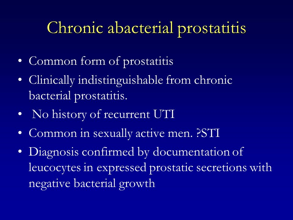Chronic abacterial prostatitis