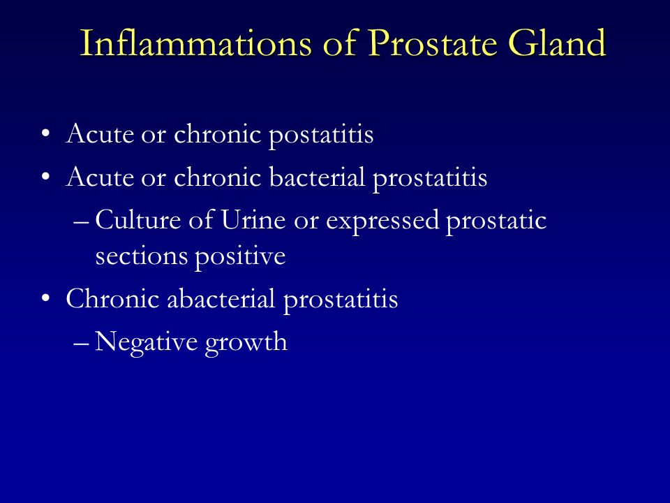 Inflammations of Prostate Gland