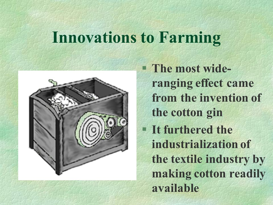 Innovations to Farming