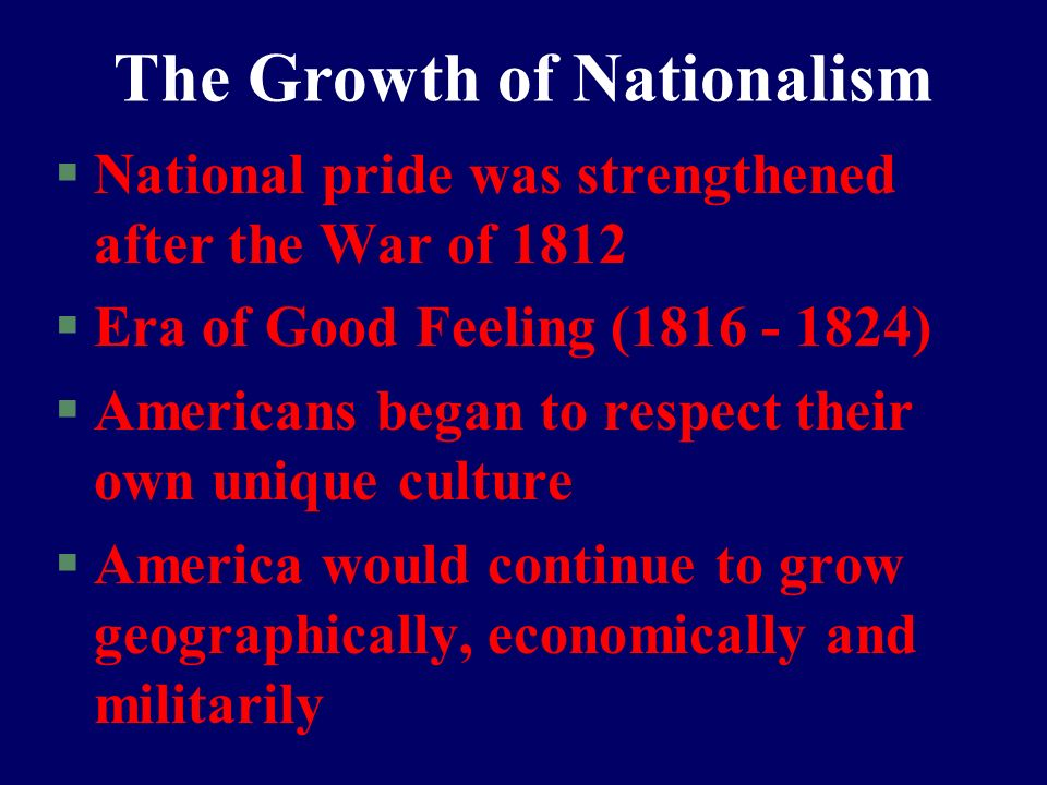 The Growth of Nationalism