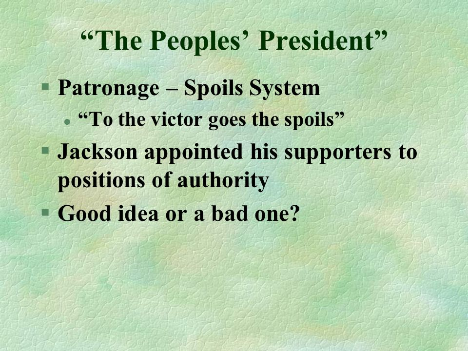 The Peoples' President