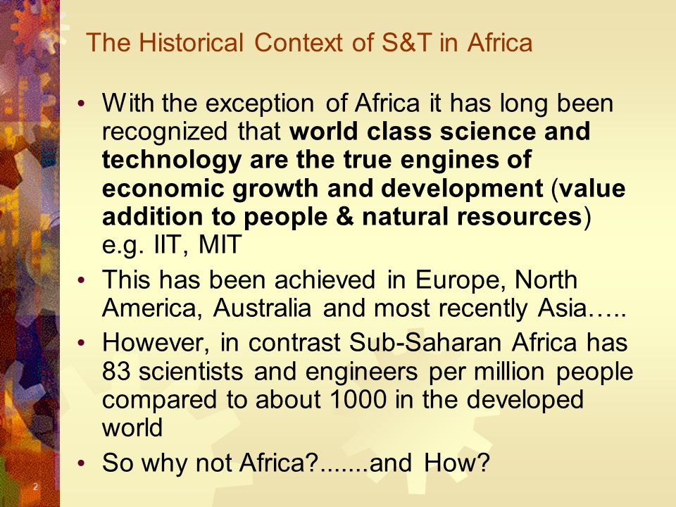 The Historical Context of S&T in Africa