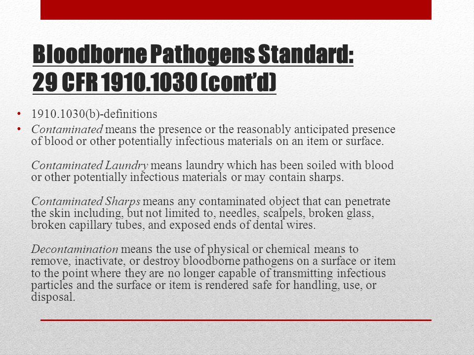 blood borne pathogens This is a demo of our online osha-compliant bloodborne pathogen training the training is one hour long the demo shows lesson 1 of 6 the full course is ava.