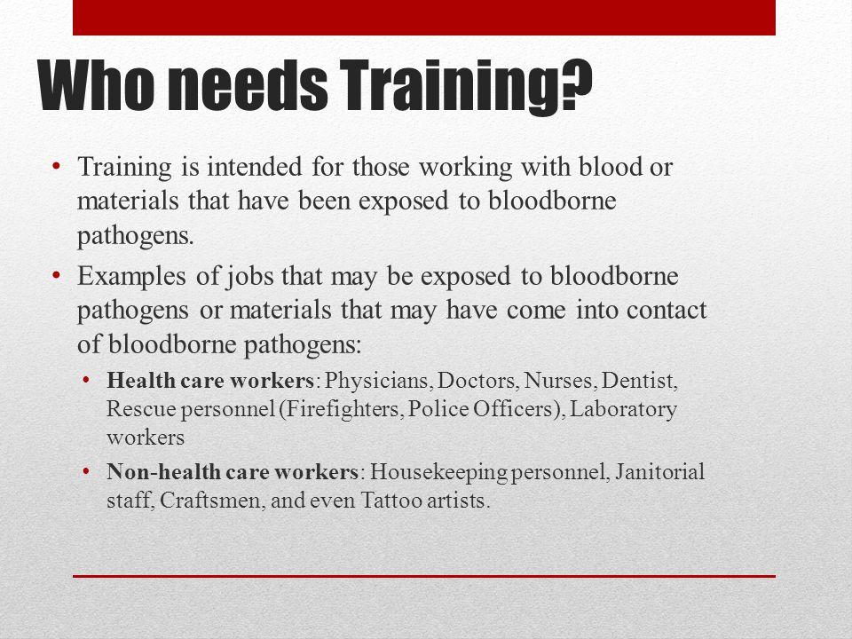 Bloodborne pathogen osha standards training ppt video for Bloodborne pathogens for tattoo artists