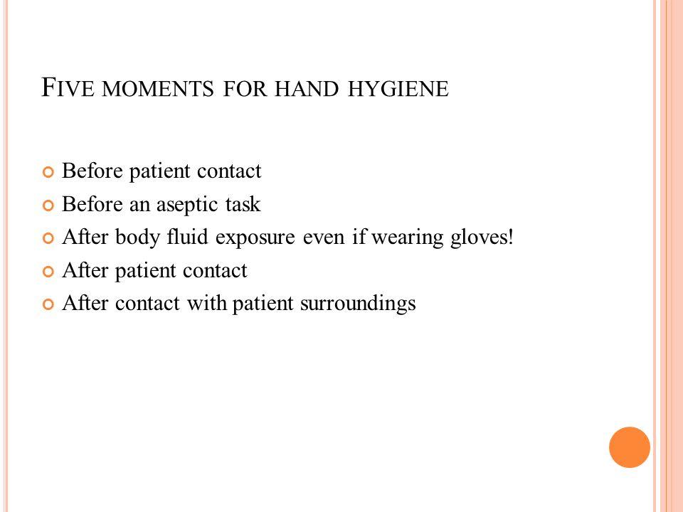 5 moments of hand hygiene pdf