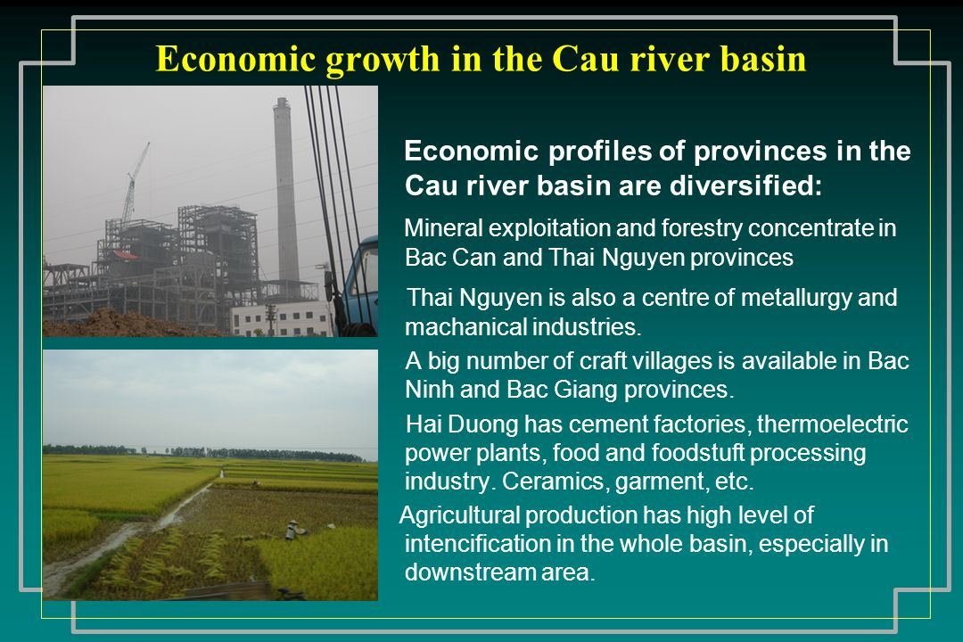 Economic growth in the Cau river basin