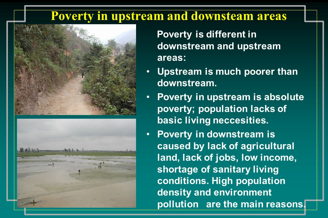 Poverty in upstream and downsteam areas