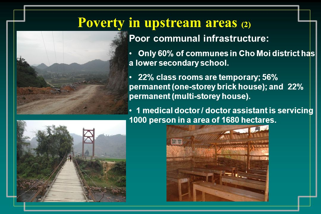 Poverty in upstream areas (2)