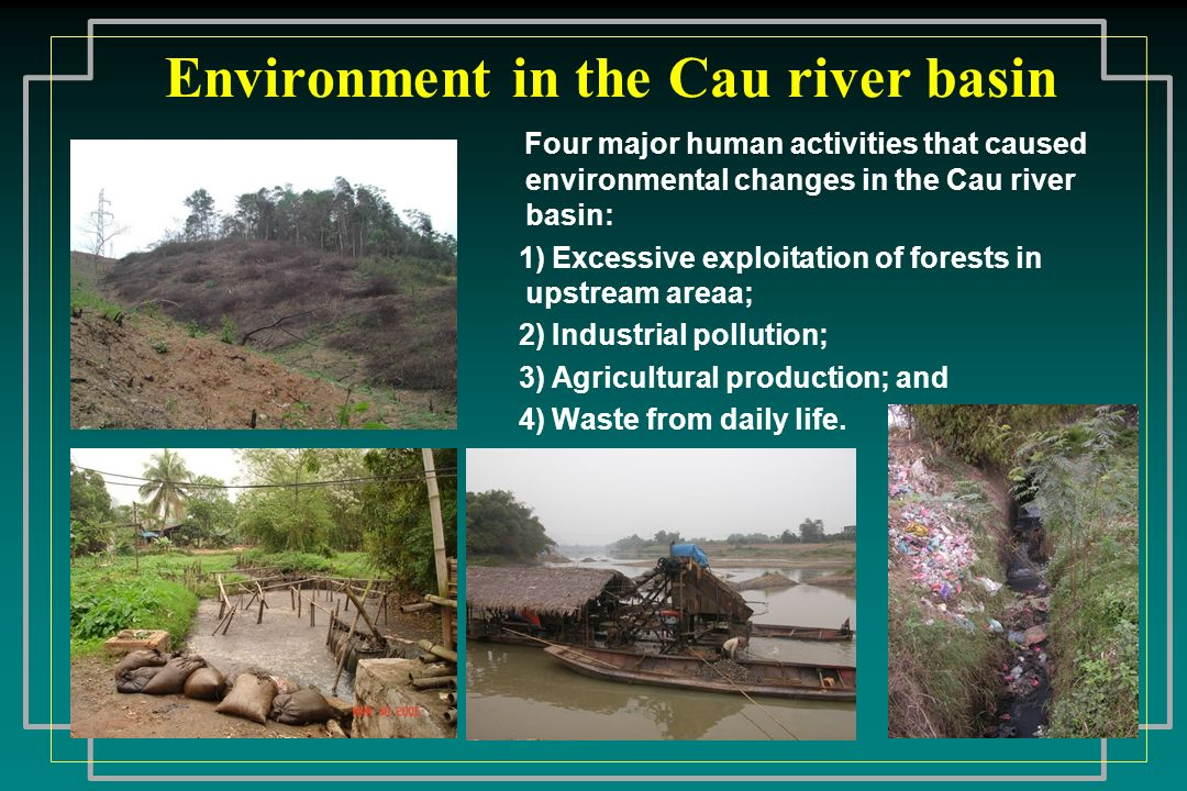 Environment in the Cau river basin