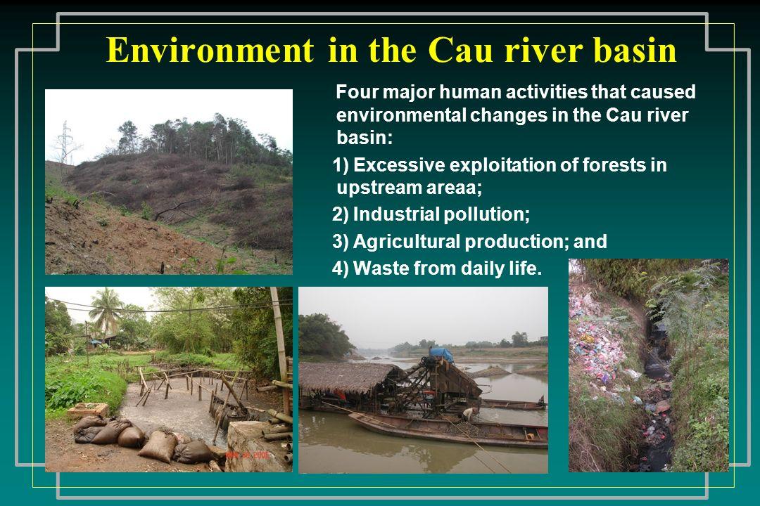 Environment in the Cau river basin