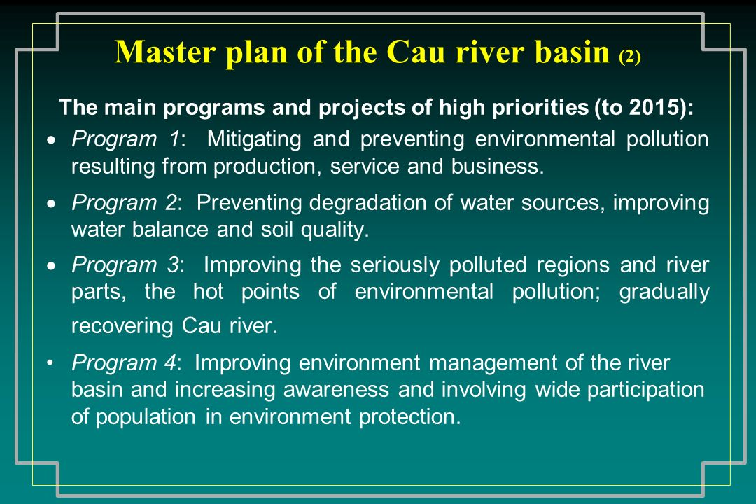 Master plan of the Cau river basin (2)