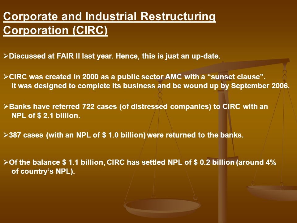 Corporate and Industrial Restructuring Corporation (CIRC)
