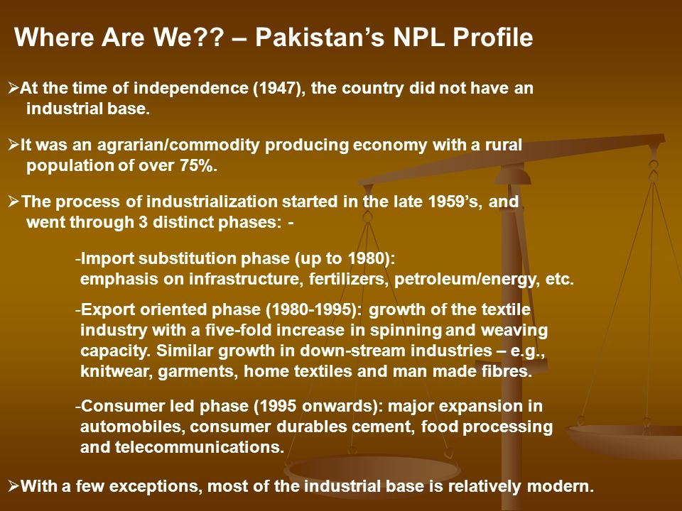 Where Are We – Pakistan's NPL Profile