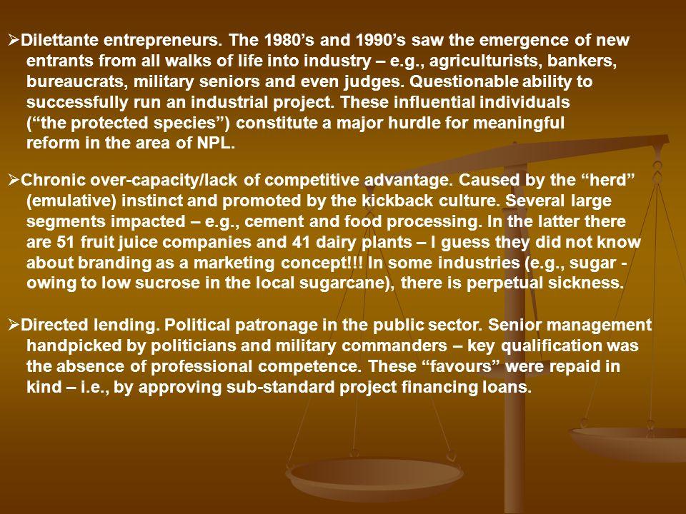 Dilettante entrepreneurs
