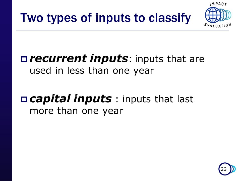 Two types of inputs to classify
