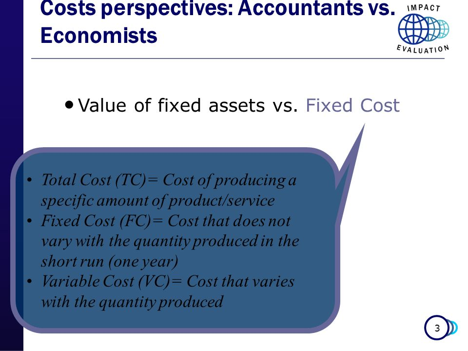 Costs perspectives: Accountants vs. Economists