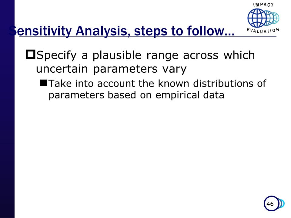 Sensitivity Analysis, steps to follow…