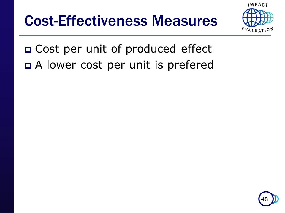 Cost-Effectiveness Measures